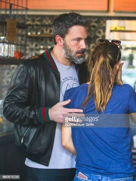 Ben Affleck and Jennifer Garner are seen on October 12 2017 in Los Angeles California
