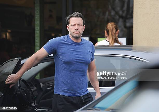 Ben Affleck and Jennifer Garner are seen on October 25 2015 in Los Angeles California