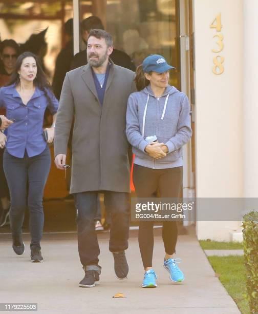 Ben Affleck and Jennifer Garner are seen on October 31 2019 in Los Angeles California