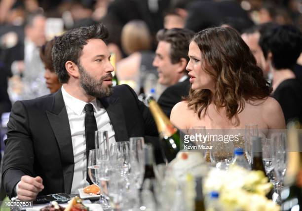 Ben Affleck and Jennifer Garner attend the 19th Annual Screen Actors Guild Awards at The Shrine Auditorium on January 27 2013 in Los Angeles...