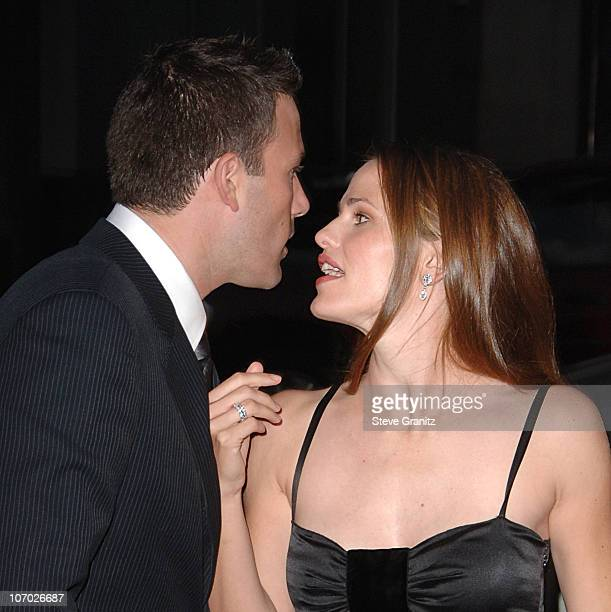 Ben Affleck and Jennifer Garner during 'Hollywoodland' Los Angeles Premiere Arrivals at Academy Theatre in Beverly Hills California United States