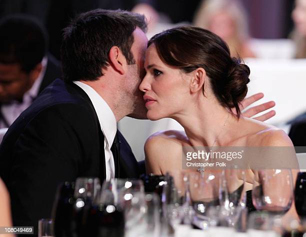 Ben Affleck and Jennifer Garner during the 16th annual Critics' Choice Movie Awards at the Hollywood Palladium on January 14 2011 in Los Angeles...