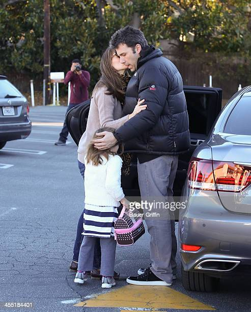 Ben Affleck and Jennifer Garner with Seraphina Affleck are seen on December 11 2013 in Los Angeles California
