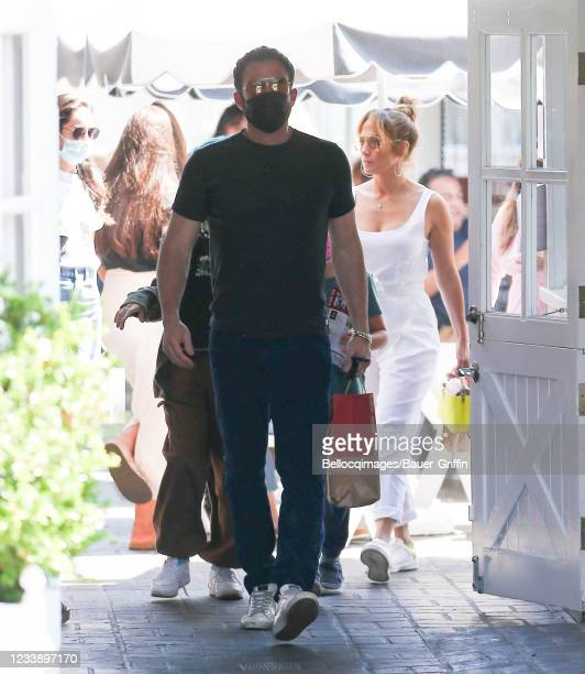 Ben Affleck and Jennifer Lopez are seen on July 09, 2021 in Los Angeles, California.