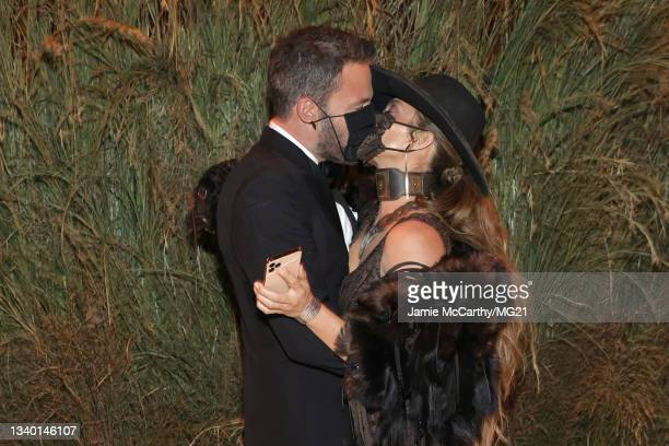 Ben Affleck and Jennifer Lopez attends the The 2021 Met Gala Celebrating In America: A Lexicon Of Fashion at Metropolitan Museum of Art on September...