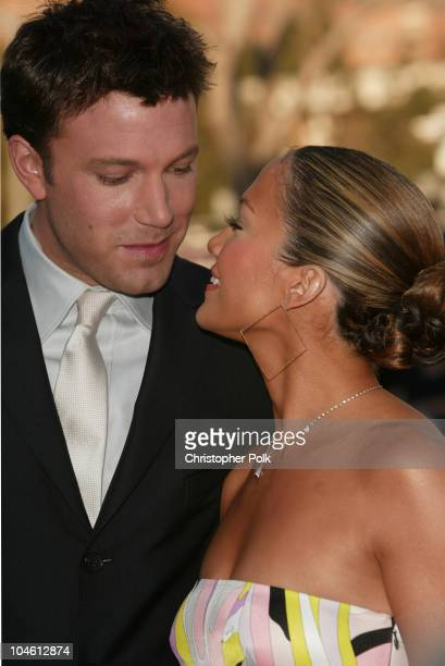 Ben Affleck and Jennifer Lopez during Daredevil Premiere - Arrivals at Mann Village Theatre in Westwood, CA, United States.