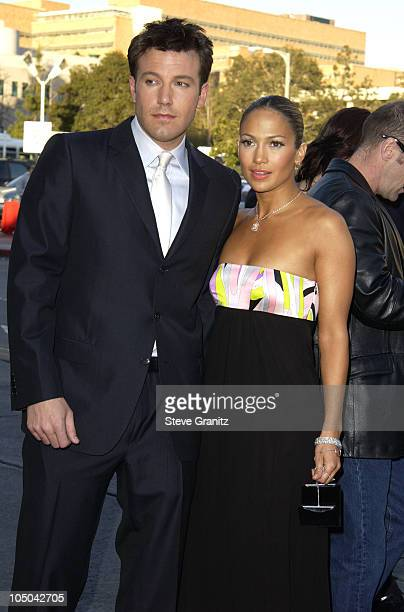 "Ben Affleck and Jennifer Lopez during ""Daredevil"" Premiere - Los Angeles at Mann Village Theater in Westwood, California, United States."