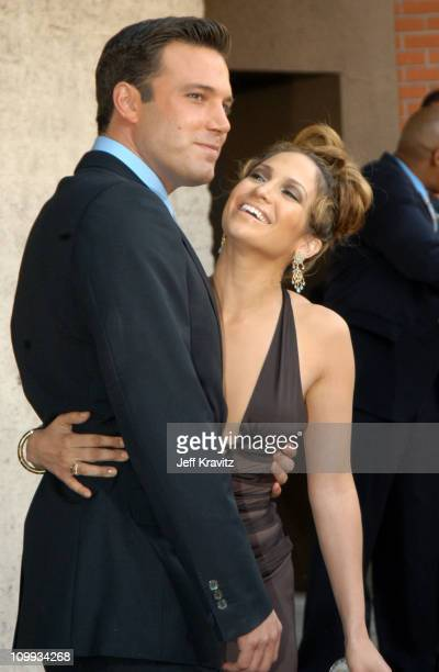 Ben Affleck and Jennifer Lopez during Gigli California Premiere at Mann National in Westwood California United States
