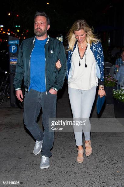 Ben Affleck and Lindsay Shookus are seen in the Upper West Side on September 10 2017 in New York City