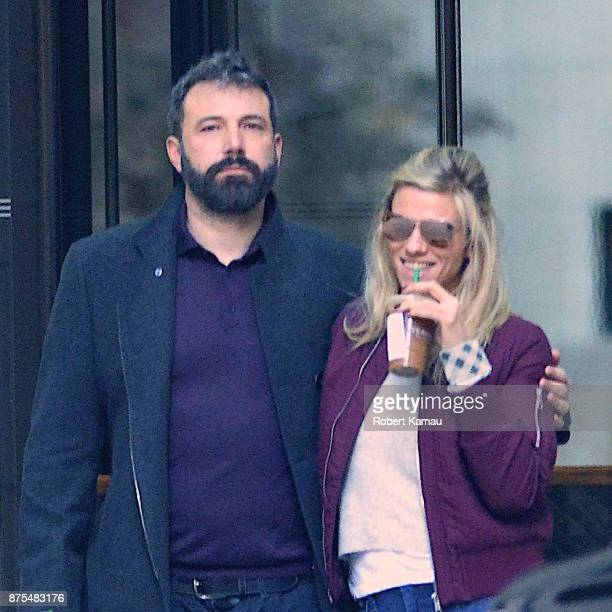 Ben Affleck and Lindsay Shookus are seen on November 17 2017 in New York City