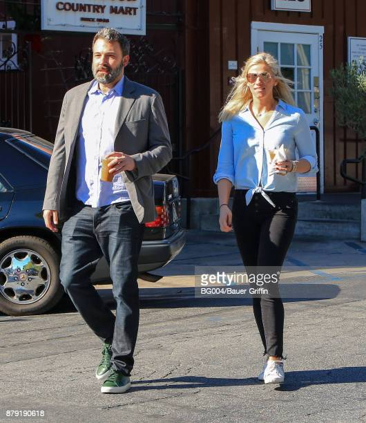 Ben Affleck and Lindsay Shookus are seen on November 25 2017 in Los Angeles California