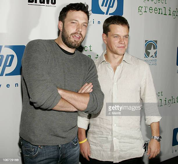 Ben Affleck and Matt Damon during LivePlanet and Miramax Announce the Winners of the Third Project Greenlight Contest Presented by HP at The...