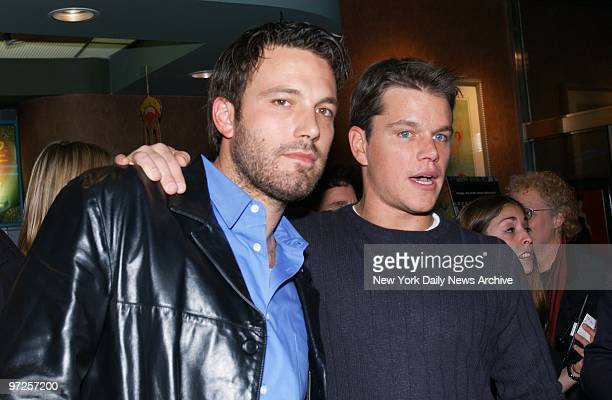 Ben Affleck and Matt Damon executive producers of the new HBO documentary series Project Greenlight are on hand for the show's premiere at the...