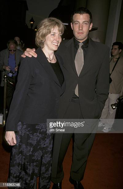Ben Affleck and mother Chris during 1998 Miramax Films PreOscar Party Hosted By Harvey Weinstein at Beverly Wilshire Hotel in Beverly Hills...