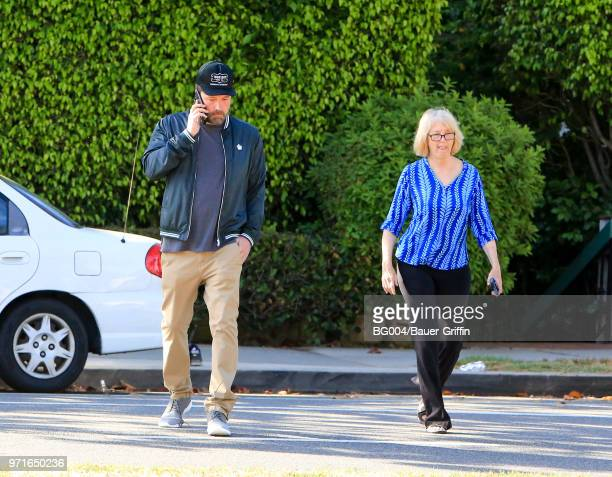 Ben Affleck and mother Christine Anne Boldt are seen on June 11 2018 in Los Angeles California