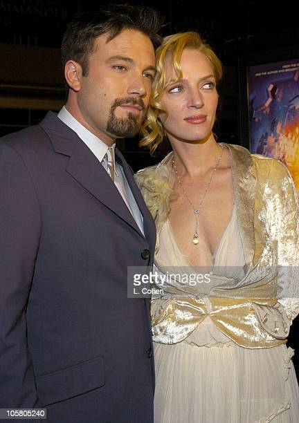 Ben Affleck and Uma Thurman during 'Paycheck' World Premiere Red Carpet at Graumann's Chinese Theater in Hollywood California United States