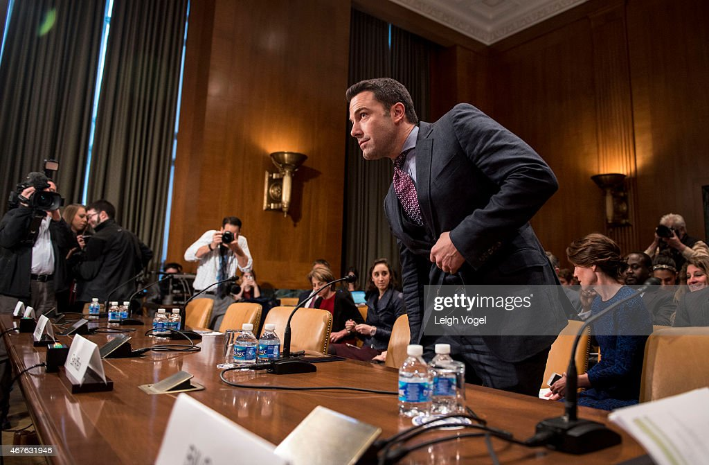 Ben Affleck arrives at the Diplomacy, Development, And National Security Hearing on March 26, 2015 in Washington, DC.