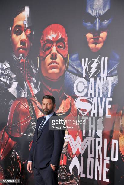 Ben Affleck arrives at the premiere of Warner Bros Pictures' 'Justice League' at Dolby Theatre on November 13 2017 in Hollywood California