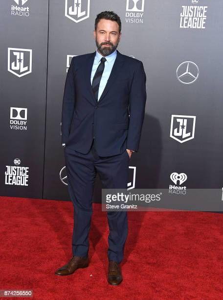 Ben Affleck arrives at the Premiere Of Warner Bros Pictures' Justice League at Dolby Theatre on November 13 2017 in Hollywood California
