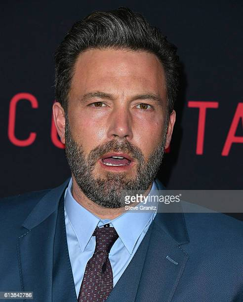 Ben Affleck arrives at the Premiere Of Warner Bros Pictures' The Accountant at TCL Chinese Theatre on October 10 2016 in Hollywood California