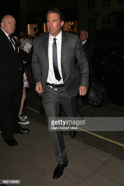 Ben Affleck at Claridges Hotel on August 3 2016 in London England