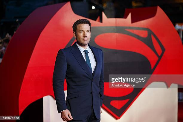 Ben Affleck attending 'Batman v Superman: Dawn of Justice' European Premiere in Leicester Square, London, England on March 22, 2016.