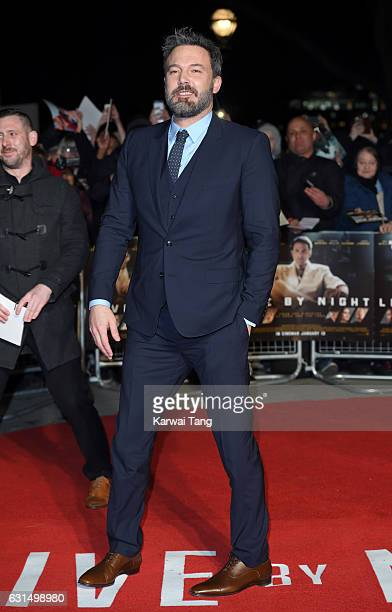 Ben Affleck attends the European Film Premiere of Live By Night at The BFI Southbank on January 11 2017 in London United Kingdom