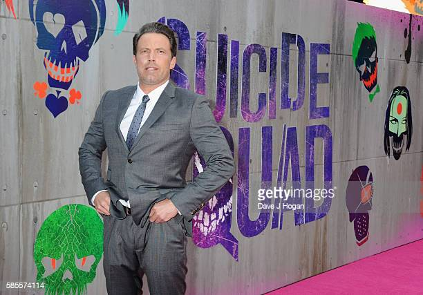 Ben Affleck attends the European Premiere of 'Suicide Squad' at Odeon Leicester Square on August 3 2016 in London England