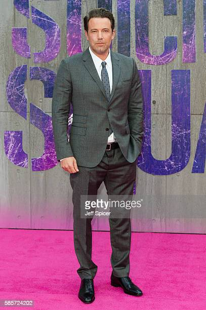 Ben Affleck attends the European Premiere of Suicide Squad at Odeon Leicester Square on August 3 2016 in London England