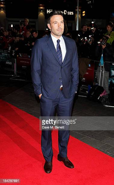 Ben Affleck attends the Gala Premiere of 'Argo' during the 56th BFI London Film Festival at Odeon Leicester Square on October 17 2012 in London...