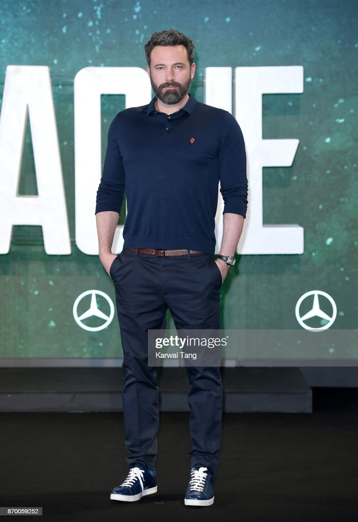 Ben Affleck attends the 'Justice League' photocall at The College on November 4, 2017 in London, England.