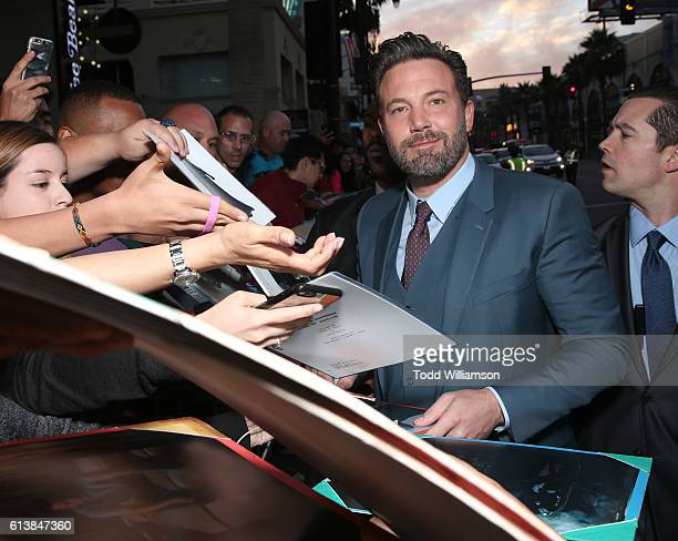 Ben Affleck attends the Premiere Of Warner Bros Pictures' The Accountant at TCL Chinese Theatre on October 10 2016 in Hollywood California