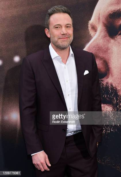 """Ben Affleck attends the Premiere of Warner Bros Pictures' """" The Way Back"""" at Regal LA Live on March 01, 2020 in Los Angeles, California."""