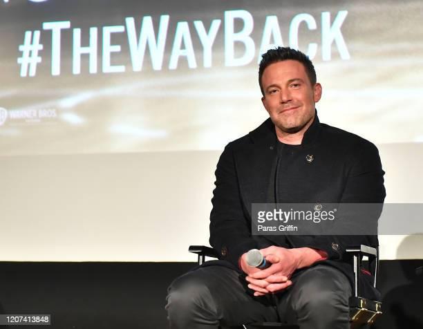 "Ben Affleck attends ""The Way Back"" Atlanta Q&A screening at Plaza Theatre on February 19, 2020 in Atlanta, Georgia."