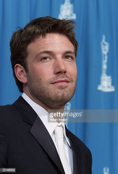 Ben Affleck backstage at the 73rd Annual Academy Awards at the Shrine Auditorium in Los Angeles Sunday March 25 2001 Photo by Kevin Winter/Getty...