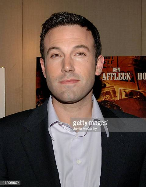 Ben Affleck during Ben Affleck Participates in an Onstage Discussion at the Walter Reade Theater at Walter Reade Theater in New York City New York...