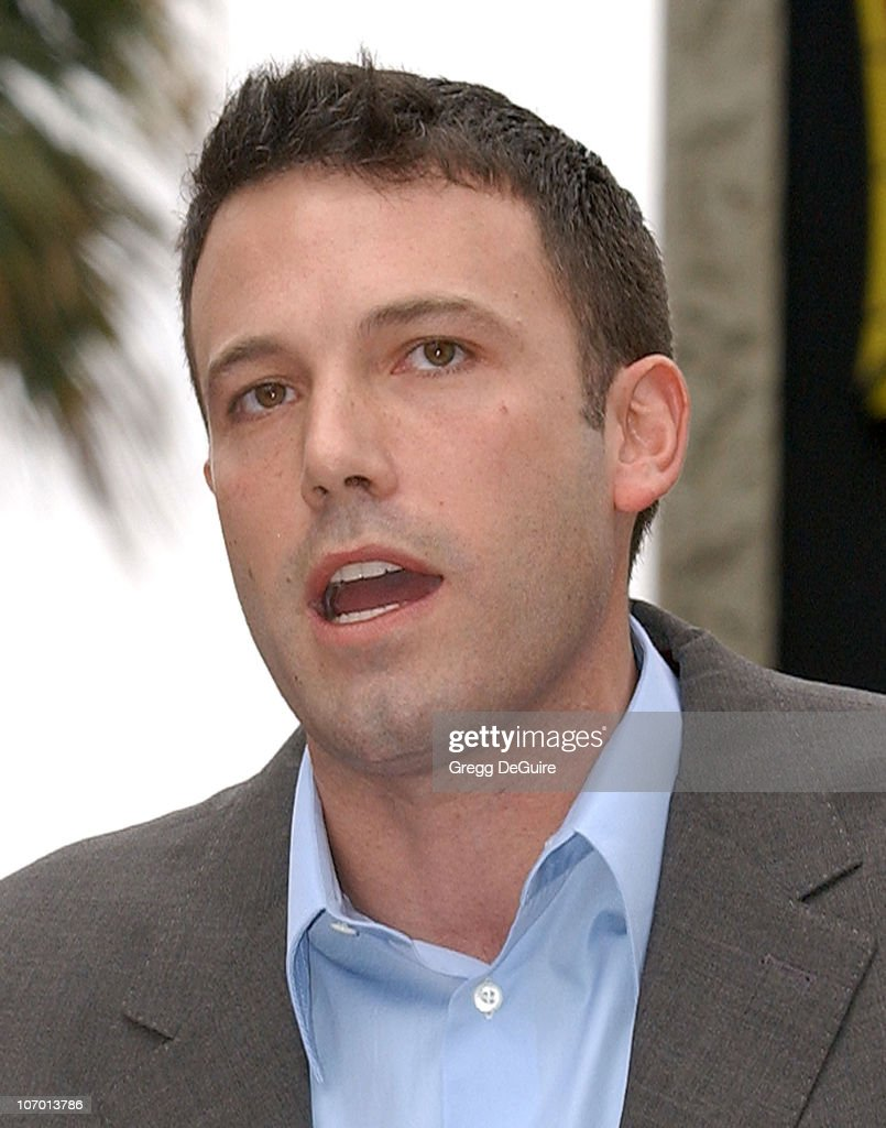 Ben Affleck during Bruce Willis Honored With a Star on The Hollywood Walk of Fame at Hollywood Blvd in Hollywood, California, United States.