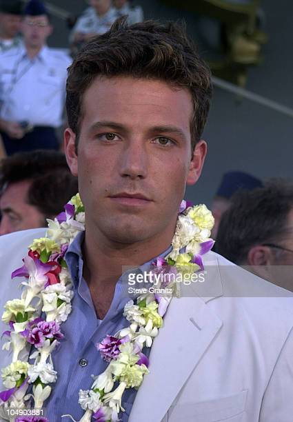 Ben Affleck during Pearl Harbor Hawaii Premiere Arrivals at USS John C Stennis in Honolulu Hawaii United States