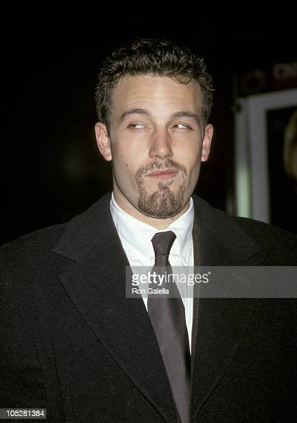 Ben Affleck during Premiere of Shakespeare in Love New York City at Ziegfeld Theater in New York City NY United States