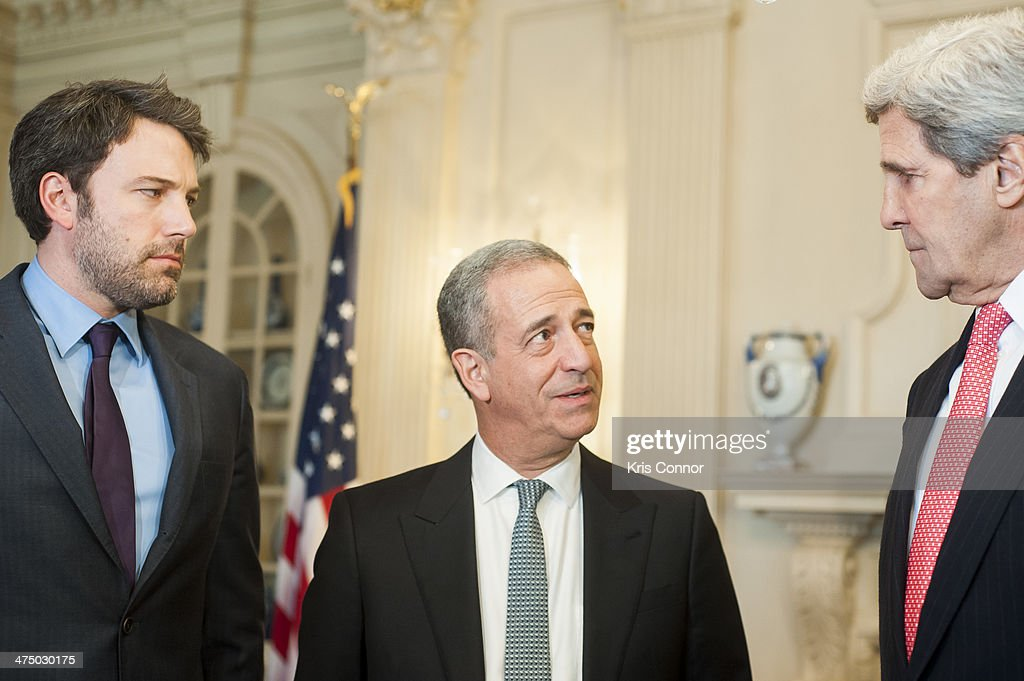 Secretary Of State John Kerry Meets With Actor Ben Affleck