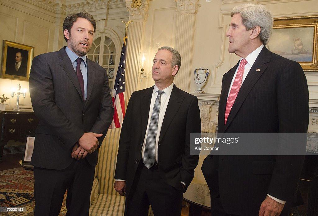Secretary Of State John Kerry Meets With Actor Ben Affleck