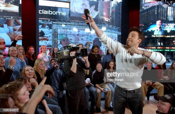 Ben Affleck gives copies of the 'Daredevil' soundtrack to TRL audience members