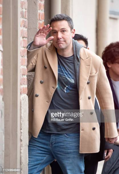 Ben Affleck is seen at 'Jimmy Kimmel Live' on February 14 2019 in Los Angeles California