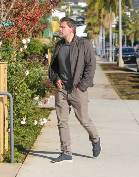 Ben Affleck with the cast of The Way Back arrive for the Premiere Of Warner Bros Pictures' The Way Back held at Regal LA Live on March 1 2020 in Los...