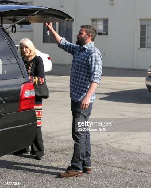 Ben Affleck is seen on November 25 2018 in Los Angeles California