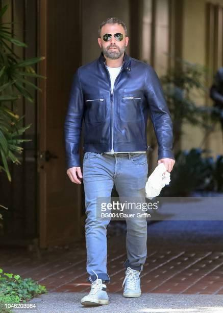Ben Affleck is seen on October 05, 2018 in Los Angeles, California.