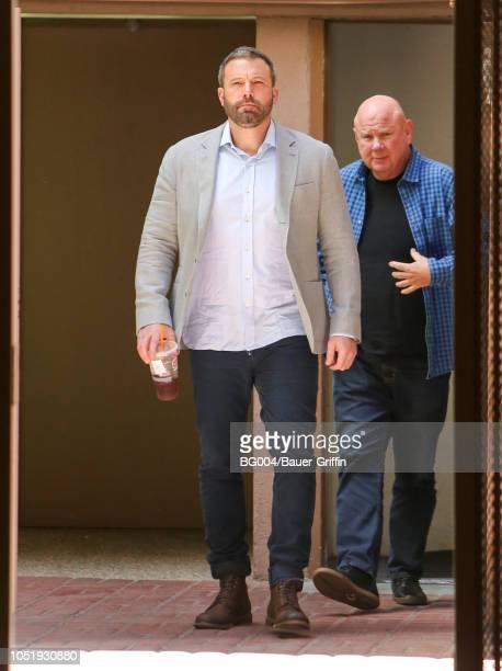 Ben Affleck is seen on October 11 2018 in Los Angeles California