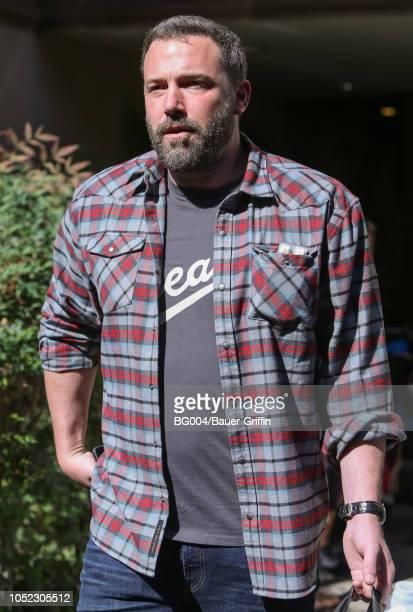 Ben Affleck is seen on October 16 2018 in Los Angeles California