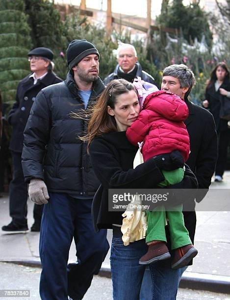 Ben Affleck Jennifer Garner and Violet Affleck sighting on December 8 2007 in New YorK