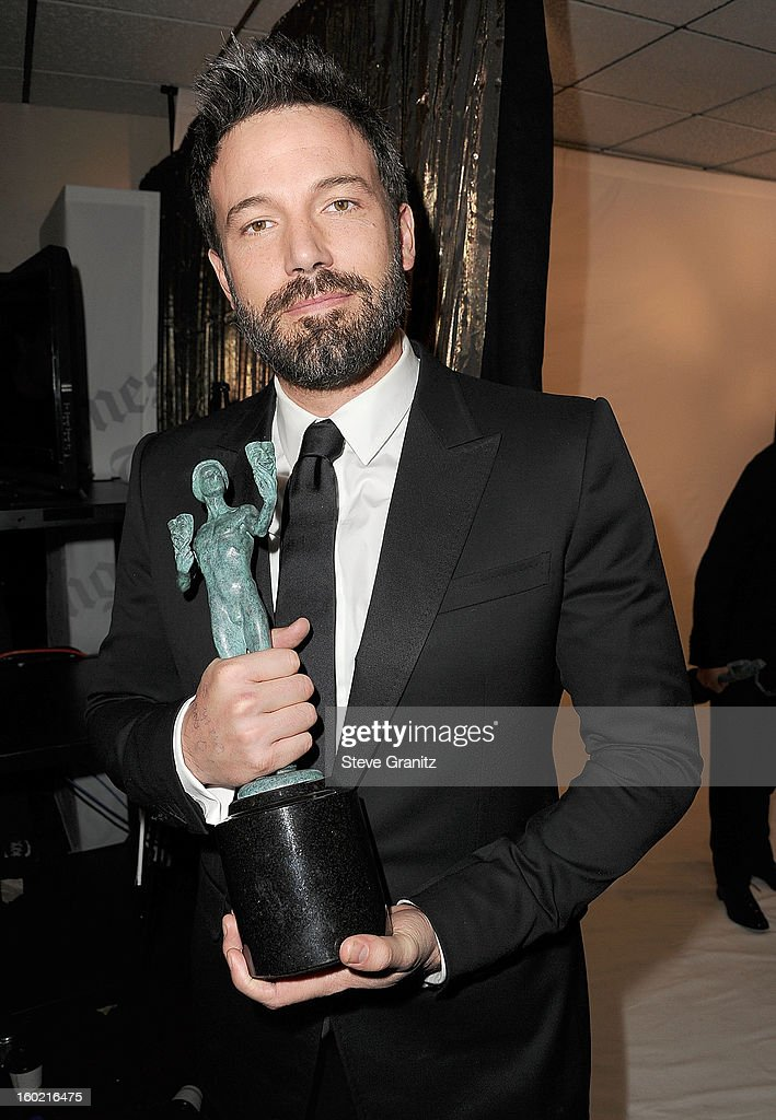 Ben Affleck poses at the The 19th Annual Screen Actors Guild Awards at The Shrine Auditorium on January 27, 2013 in Los Angeles, California.